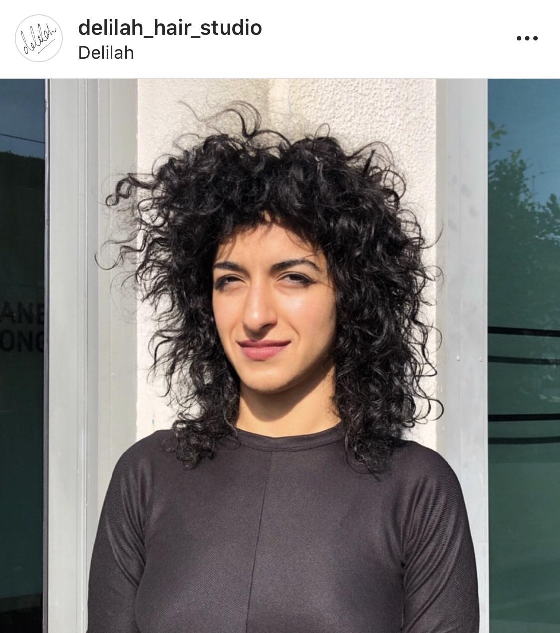 curly hair instagram post