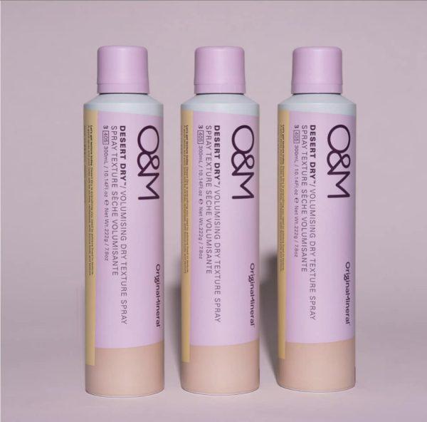 three O&M texture spray products