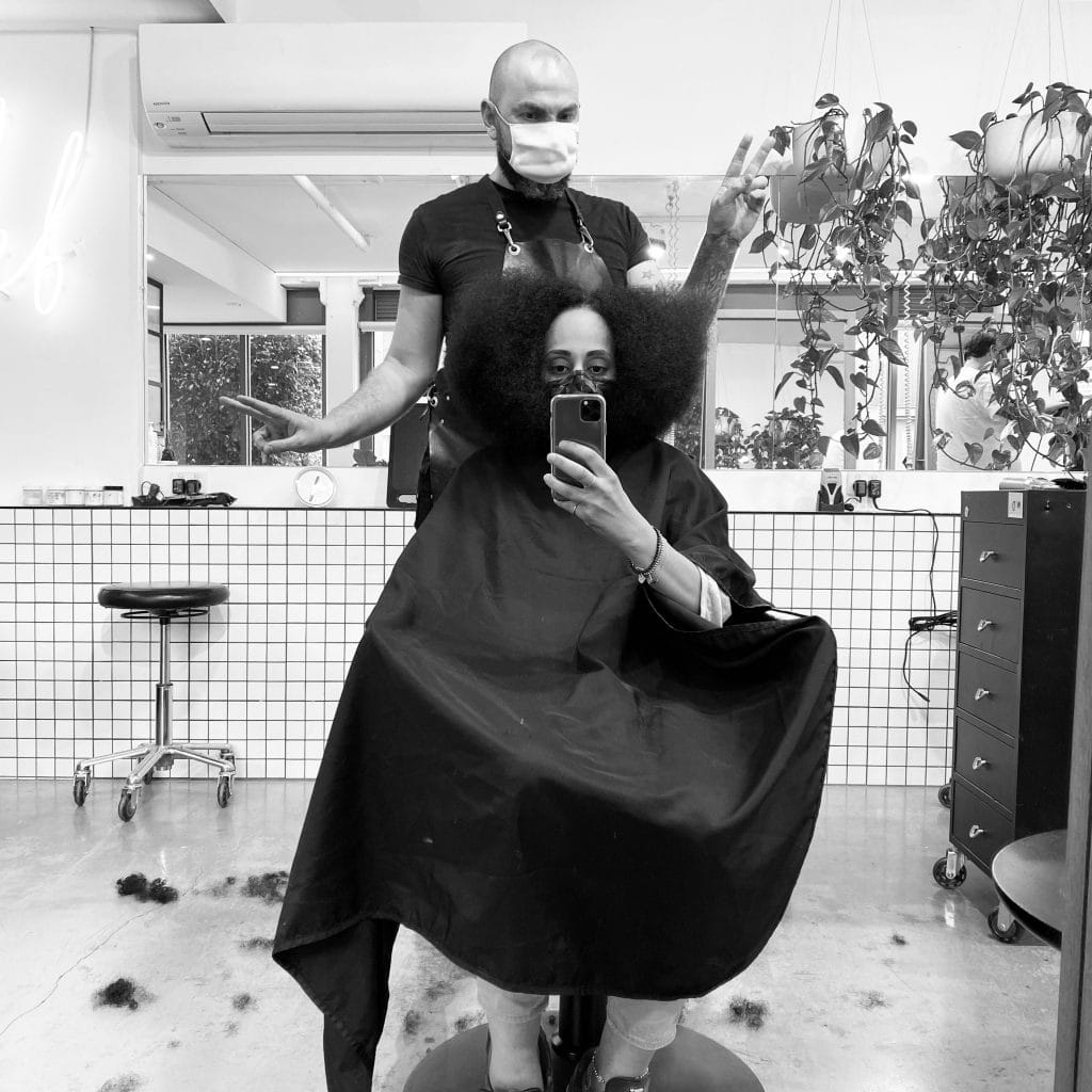 delilah hair studio and customer