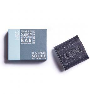 o&m charcoal shampoo bar