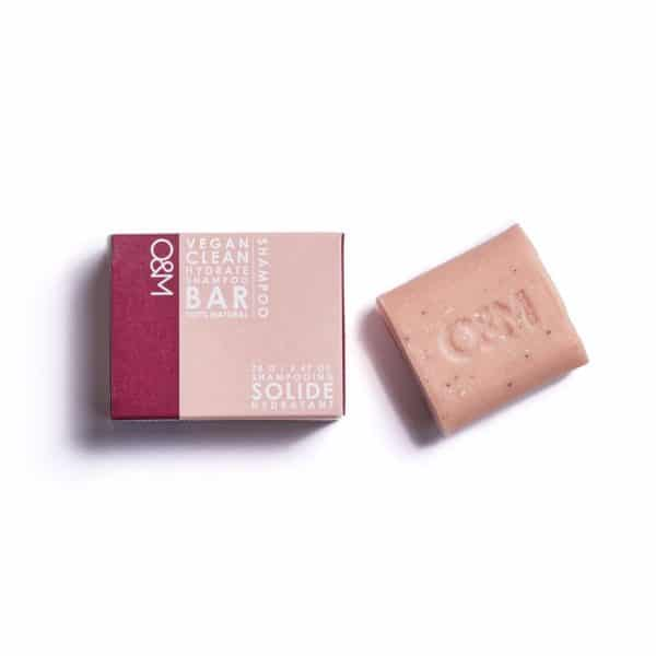 o&m pink hydrate shampoo bar